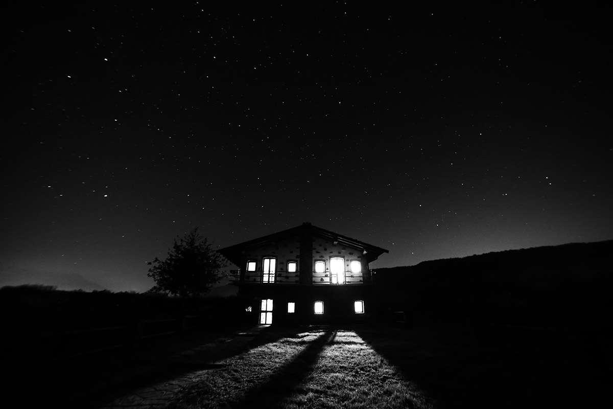 Last weekend in house under stars